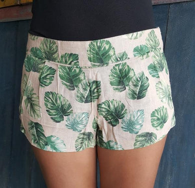 Jungle Short Pants 100% Linen