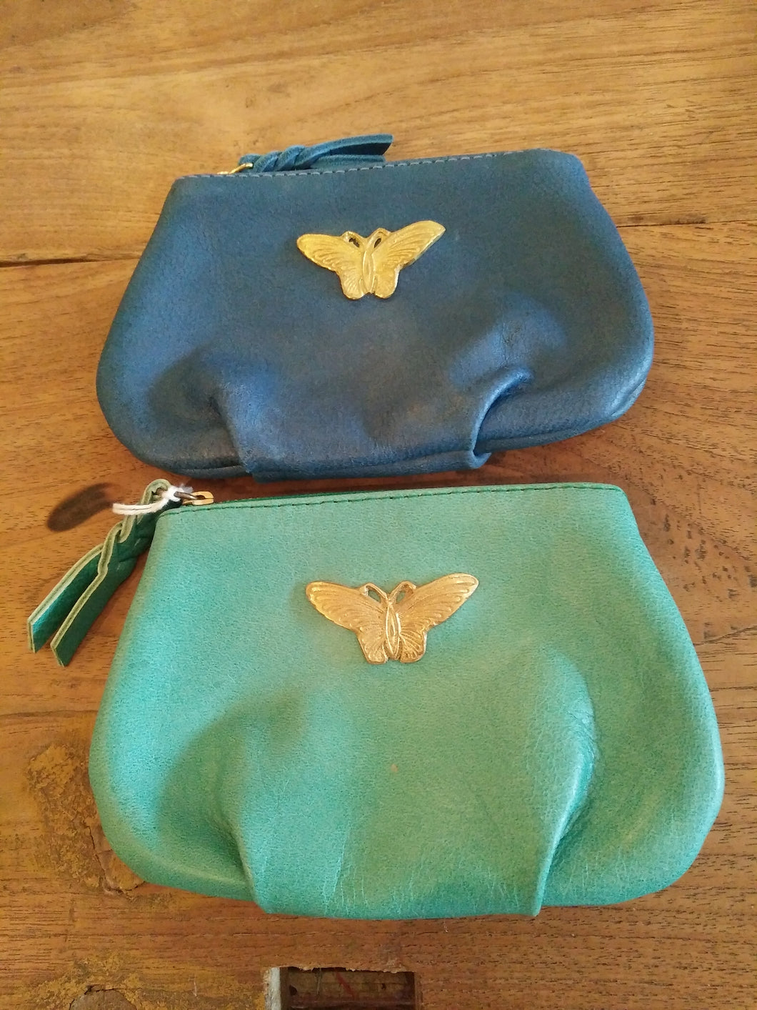 Pouch Leather Mini Butterfly MCL