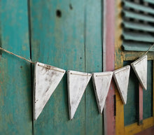 Wooden Bunting flag