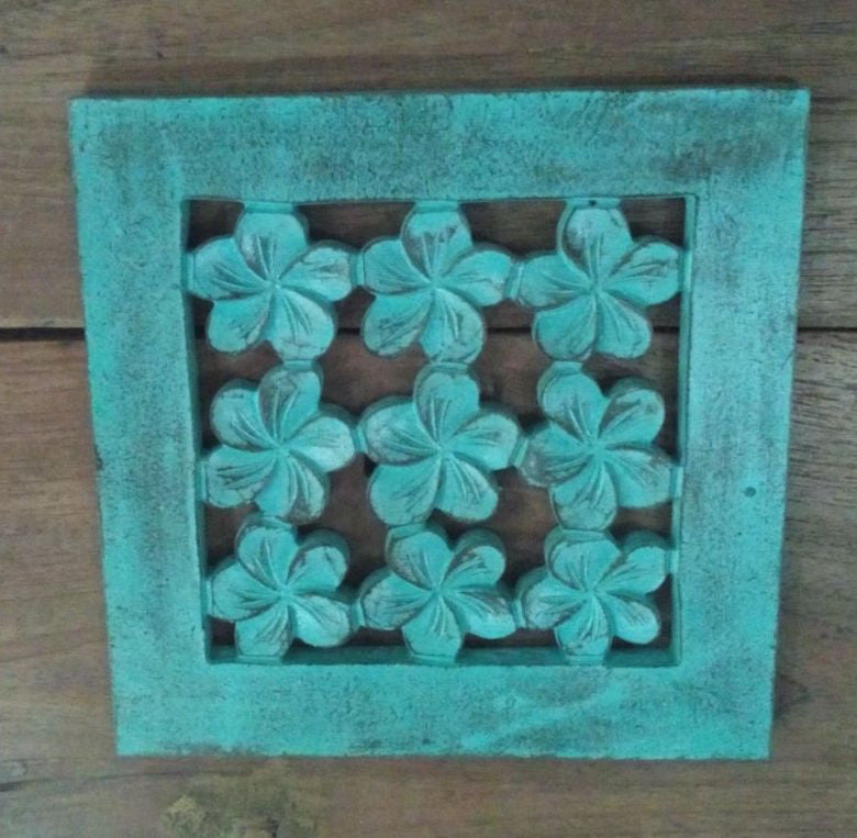 Traditional Balinese Carving Frangipani Flower 20x20