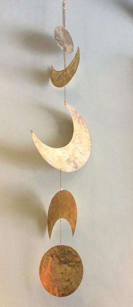 Wall Hanging Brass Moon