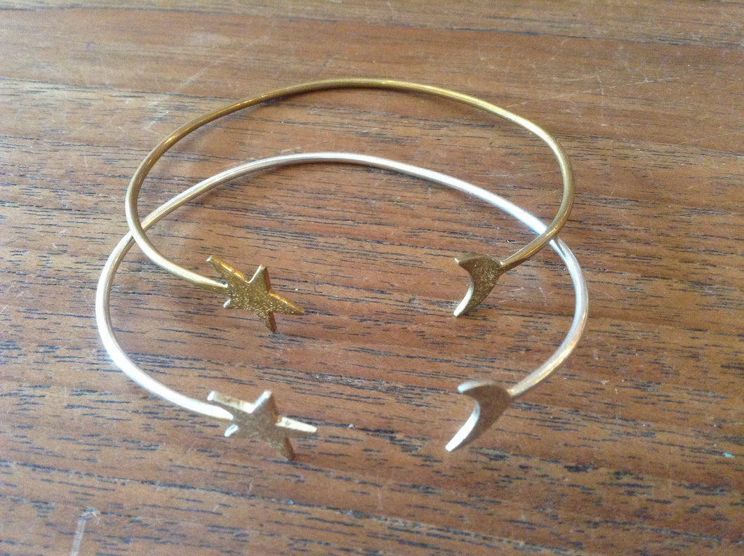 Bracelet Brass Moon and Star