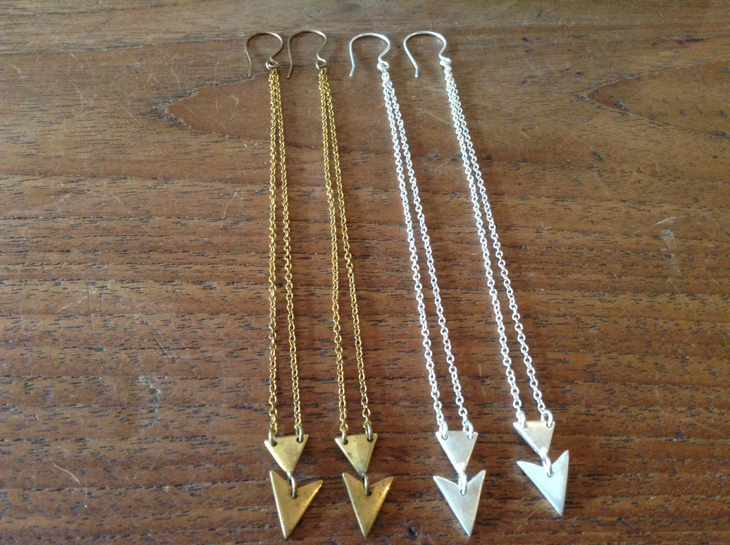 Earring Triangle on chain