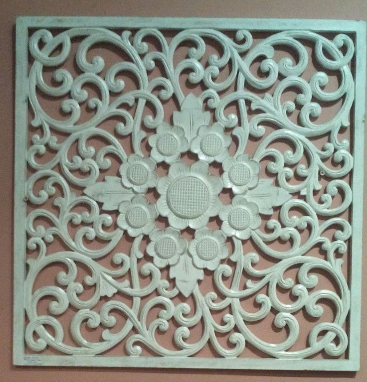 Traditional Balinese Carving Multi Flower with Swirl