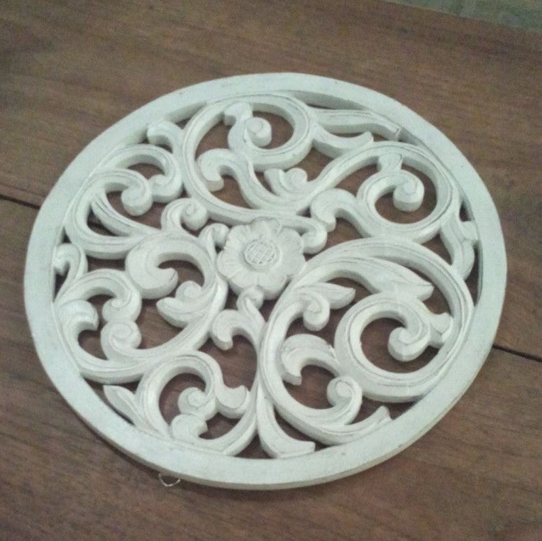 Traditional Balinese Carving Round flower