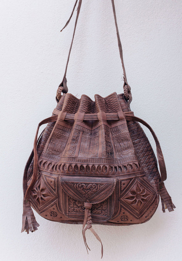 Casablanca Bucket Bag // Chocolate