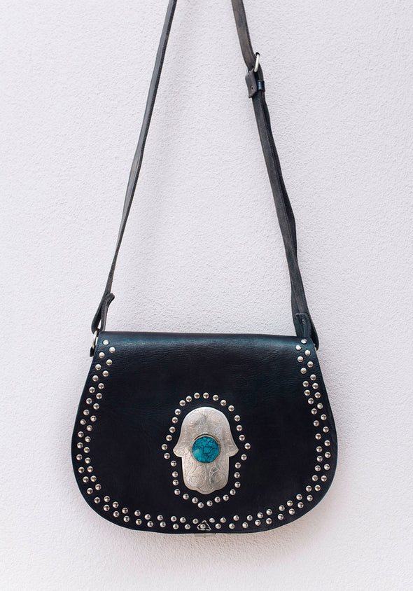 Marrakech Gypsy Bag // Black & Blue