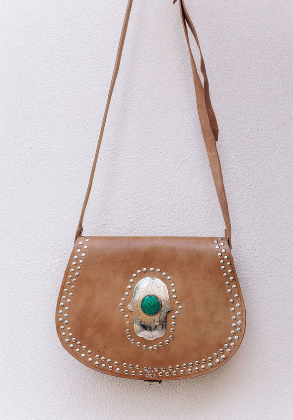 Marrakech Gypsy Bag // Tan & Green