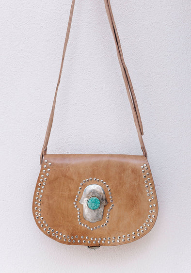 Marrakech Gypsy Bag // Tan & Turquoise