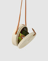 THE AMALFI RATTAN BAG - WHITE