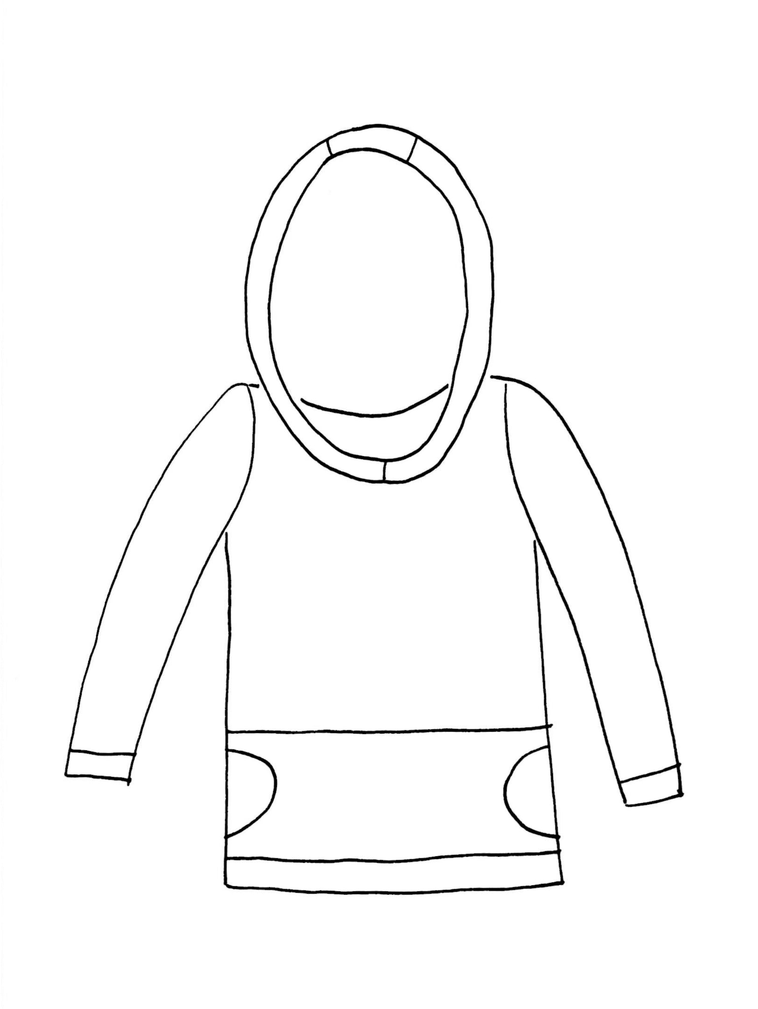 outline of a hoodie to color in you can design your own hoodie