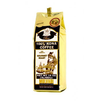 16oz 100% Kona Coffee Ground