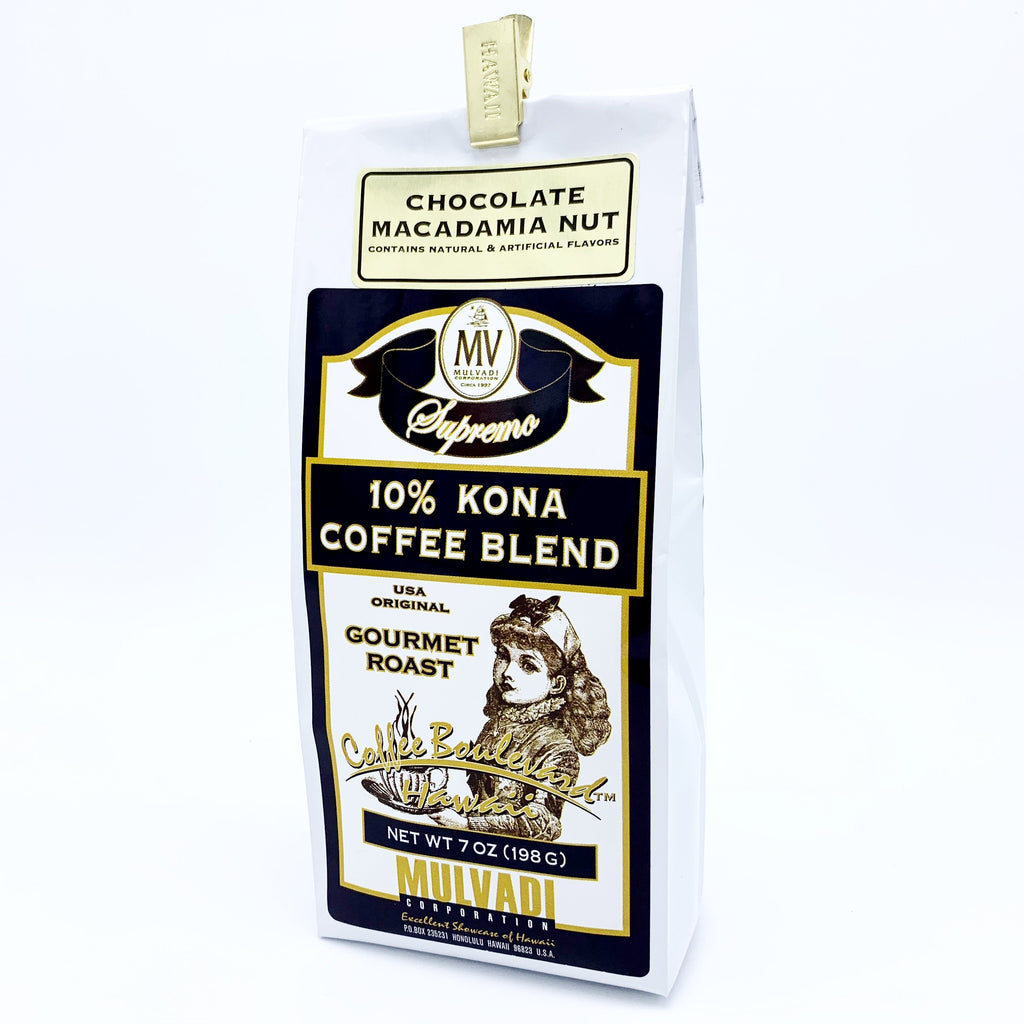 10% Kona Blend Coffee Chocolate Macnut Ground