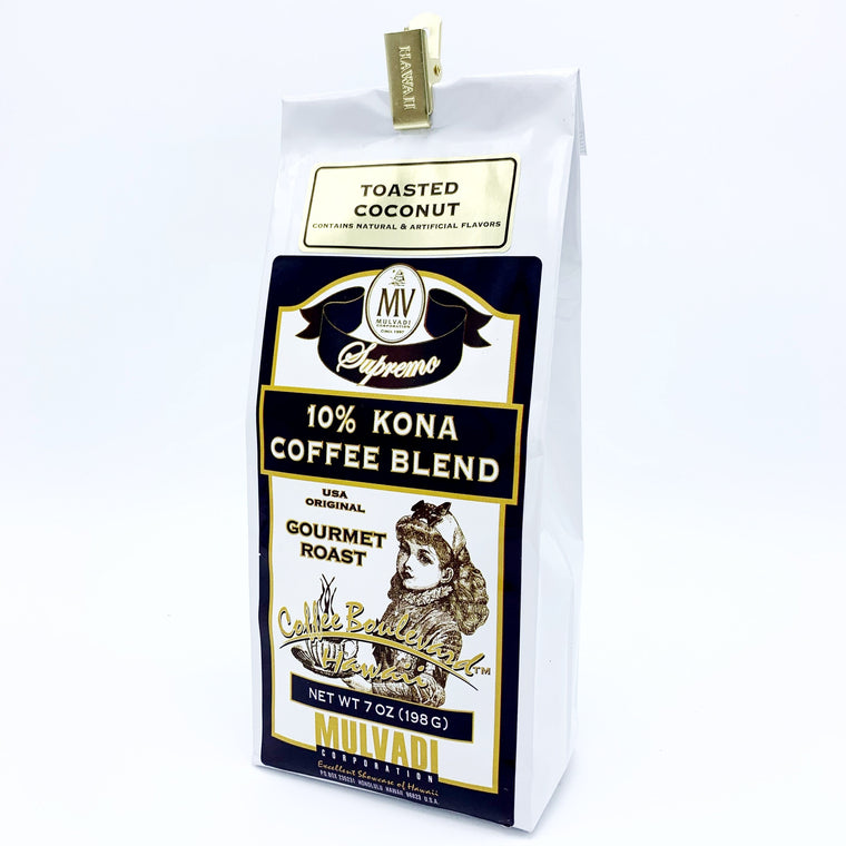 10% Kona Blend Coffee Coconut Ground