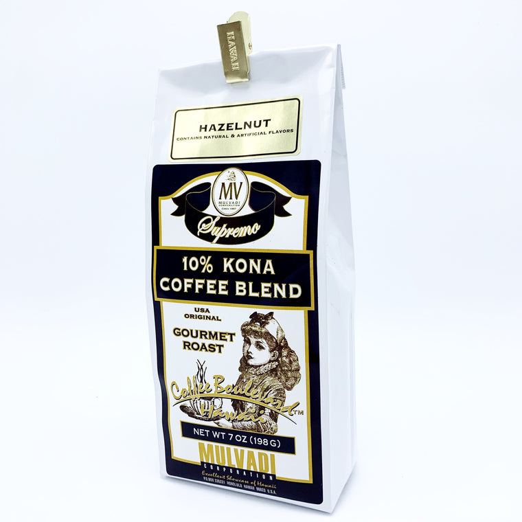 10% Kona Blend Coffee Hazelnut Ground