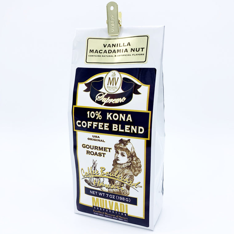 10% Kona Blend Coffee Vanilla Macnut Ground