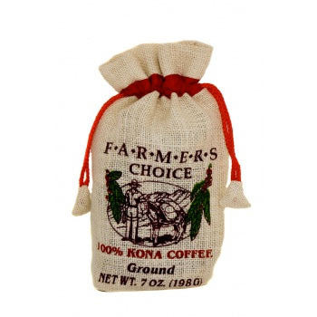 7oz 100% Kona Farmers Choice Burlap Ground