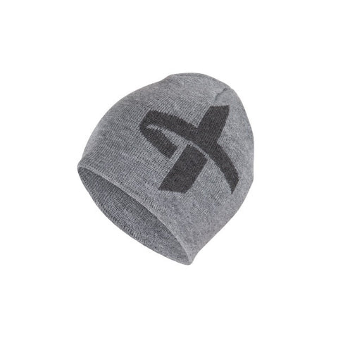 Cross Intarsia Beanie Grey Melange