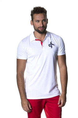 Cross M Big Logo Polo Hvid 16