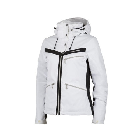 Cross Womens Pro Stripe Ski Jkt White