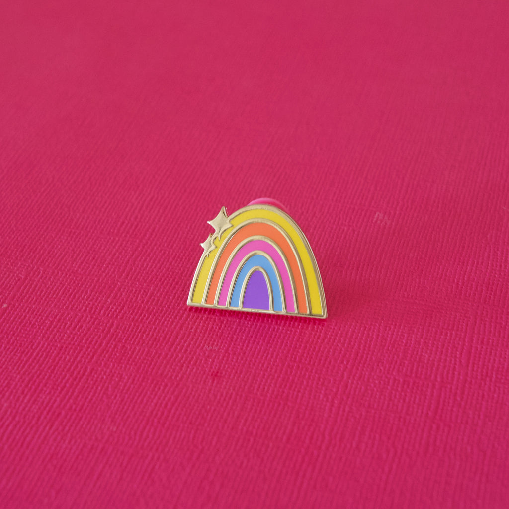 Bright Rainbow Enamel Pin