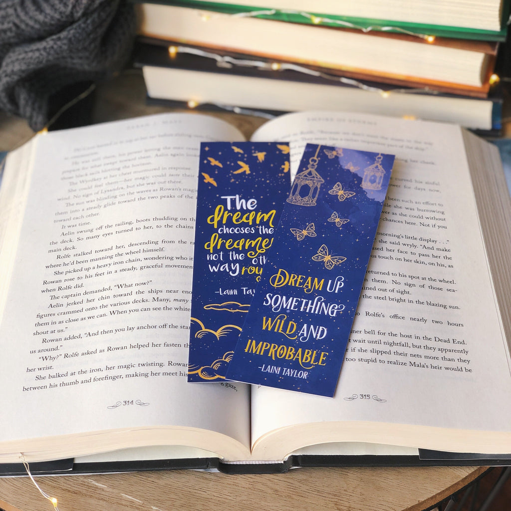 Strange the Dreamer Double-sided Bookmark