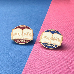 Book Lovers Anonymous Enamel Pin