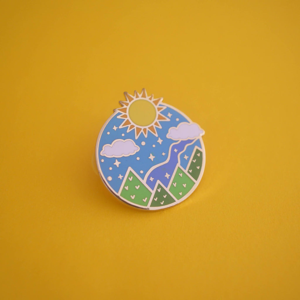 The Day Court Enamel Pin