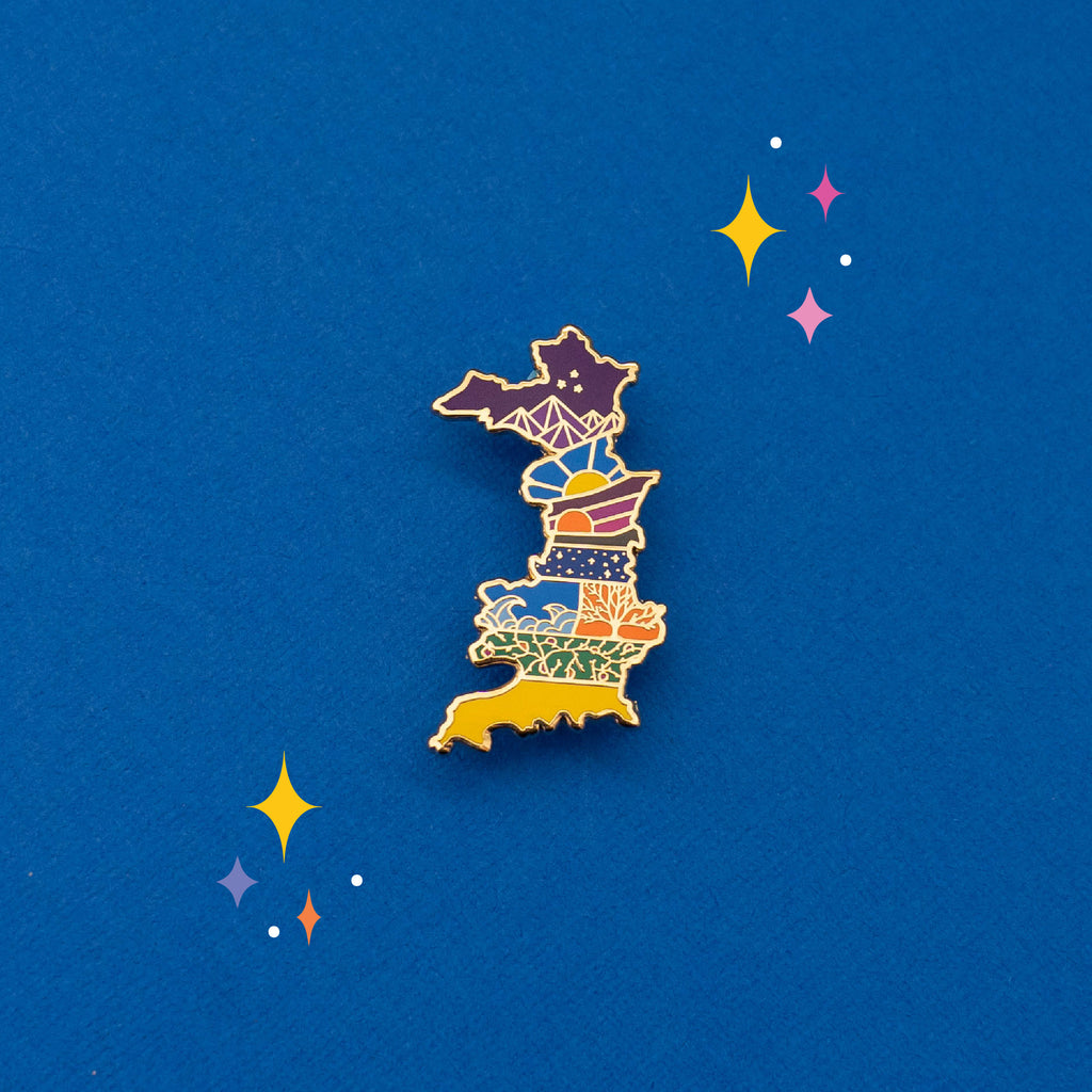 Prythian Map Enamel Pin