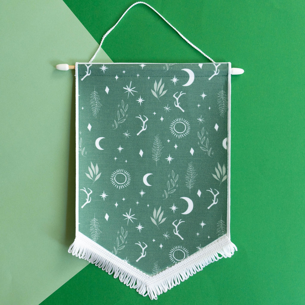 Green Witchy Forest Enamel Pin Display Banner