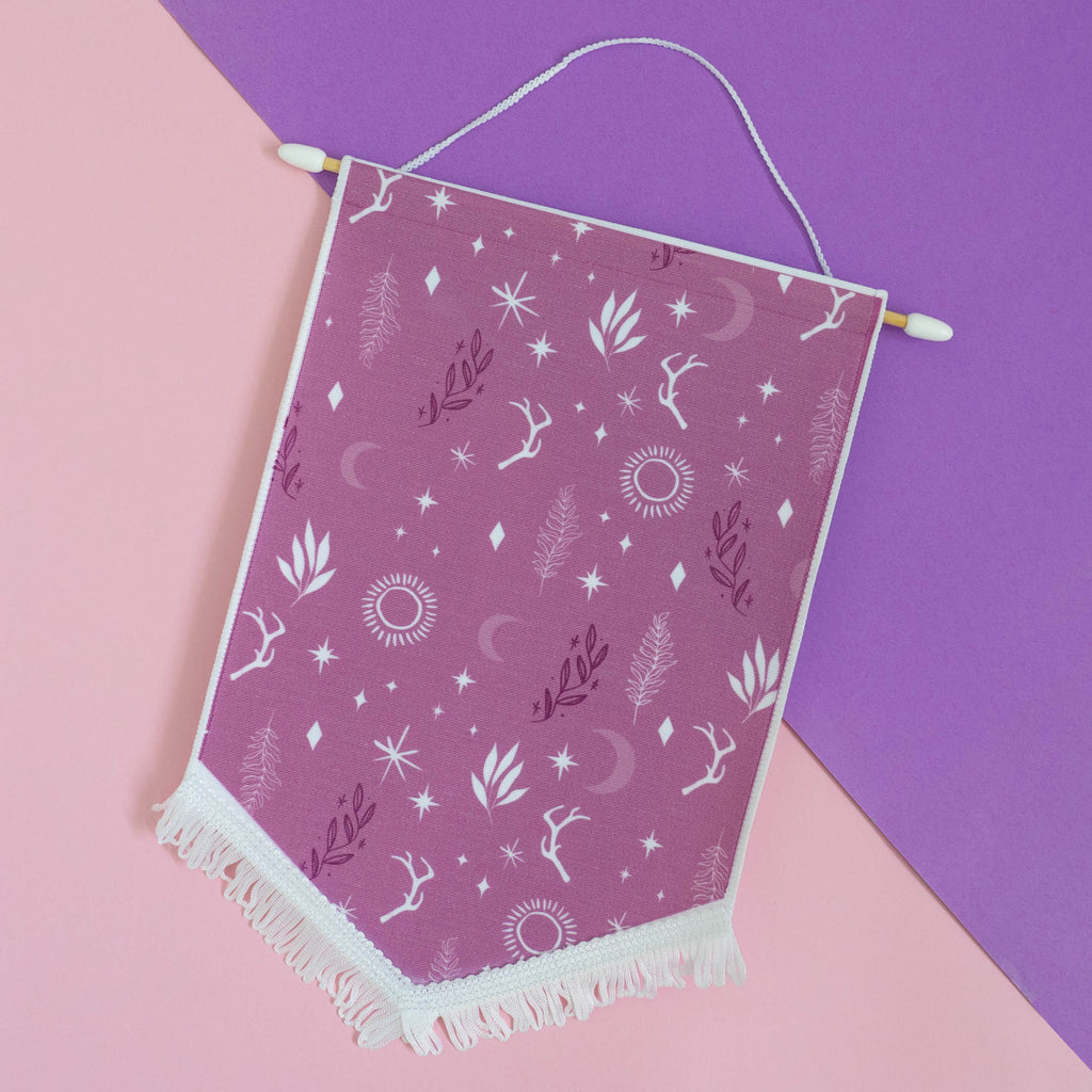 Purple Witchy Forest Enamel Pin Display Banner