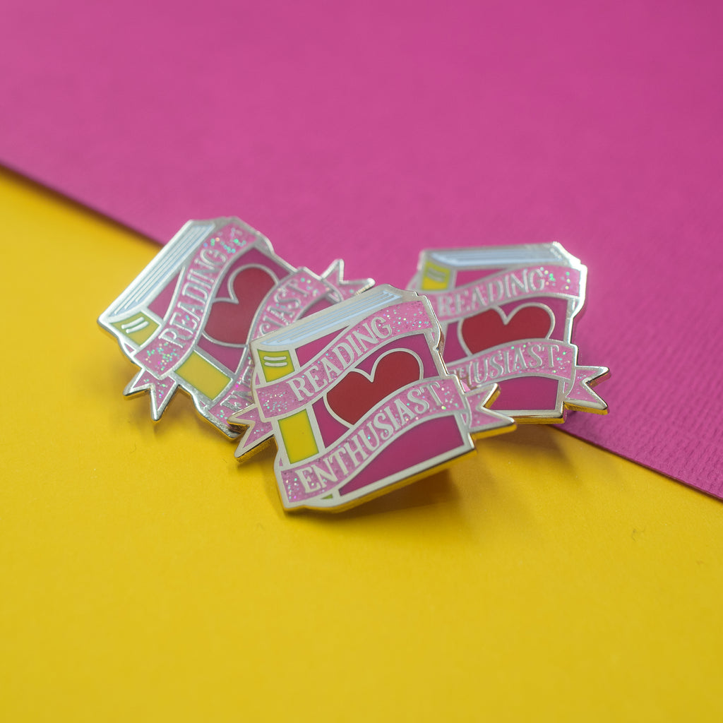 Reading Enthusiast Enamel Pin