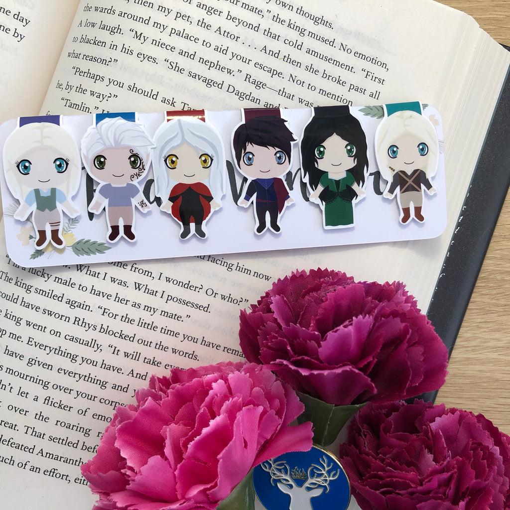 Throne of Glass Magnetic Bookmarks Set One