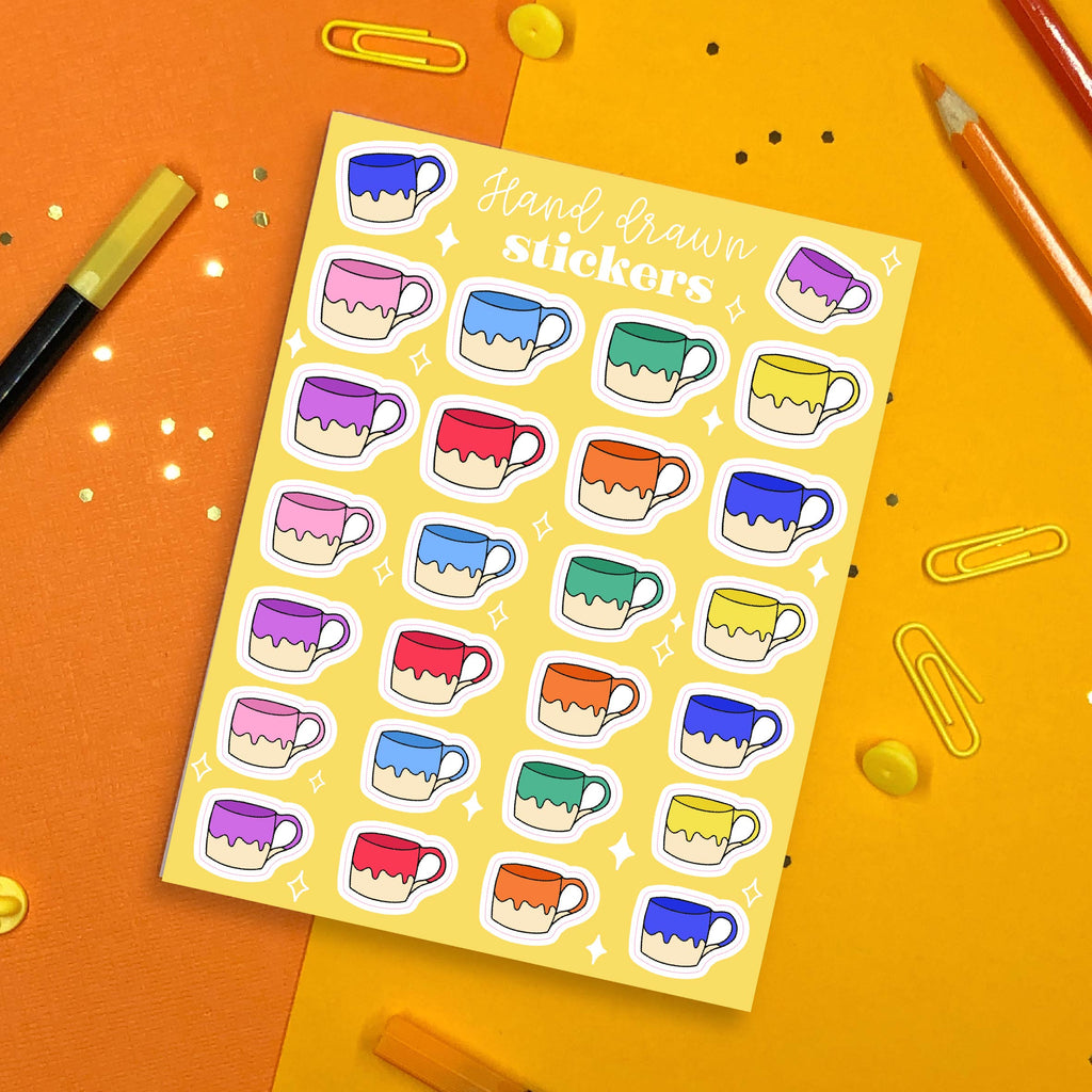 Swatch Mug Sticker Sheet