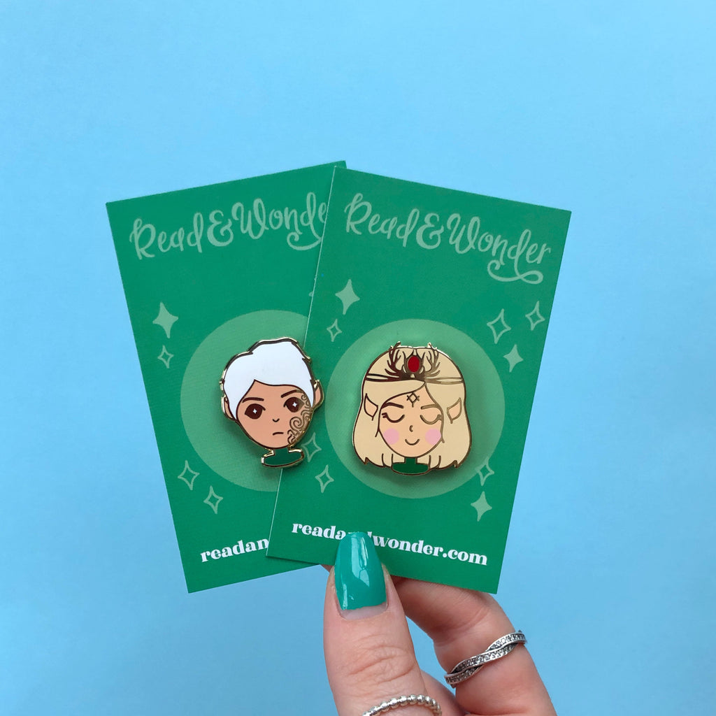 Aelin and Rowan| Bookish Babe Enamel Pin Set