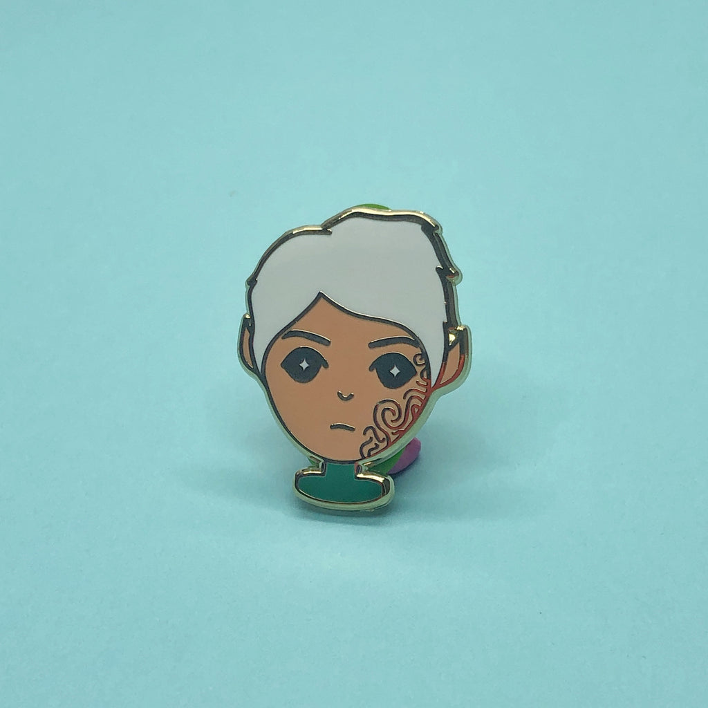Rowan Whitethorn | Bookish Babe Enamel Pin