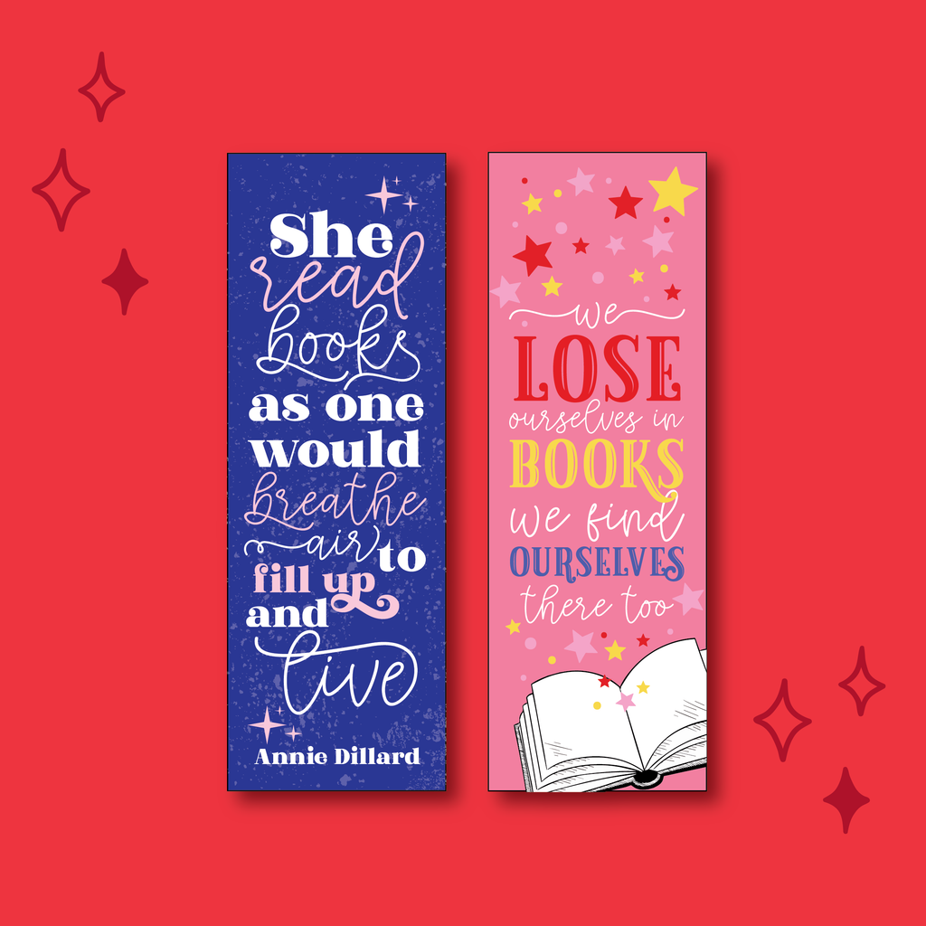 Book Lover Double-sided Bookmark