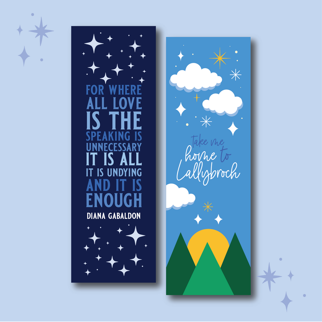 Lairds and Lasses WonderMail double-sided bookmark