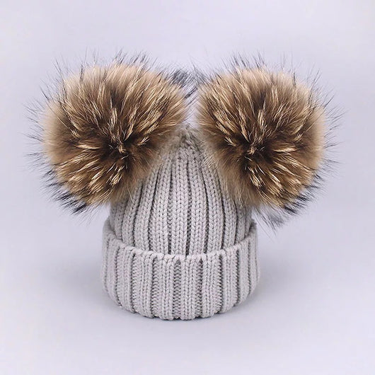 Light grey knit hat -LIMITED EDITION-