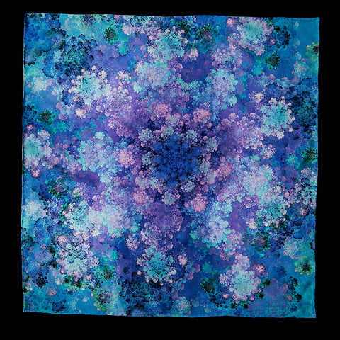 fractal purple handkerchief