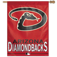 "Arizona Diamondbacks MLB 27"" x 37"" Team Name Vertical Flag"