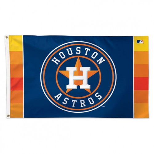 Houston Astros MLB 3' x 5' Single-Sided Deluxe Flag - Team Logo