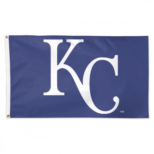 Kansas City Royals MLB Team Logo 3' x 5' Single-Sided Deluxe Flag