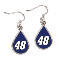 Jimmie Johnson NASCAR Tear Drop Earrings