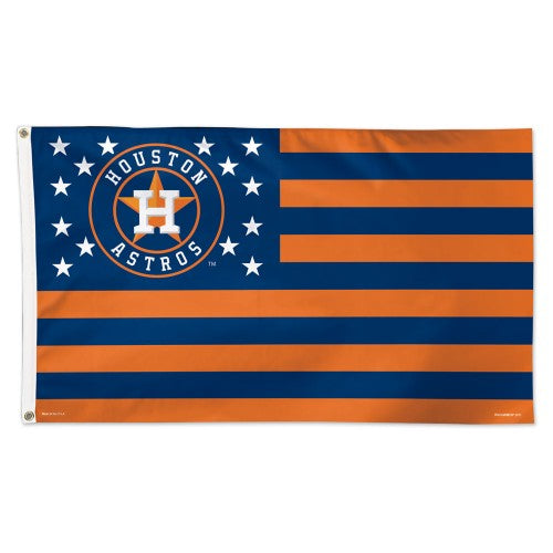 Houston Astros MLB 3' x 5' Single-Sided Deluxe Flag - Stars and Stripes