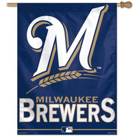 "Milwaukee Brewers MLB 27"" x 37"" Vertical Flag - M"