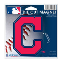 "Cleveland Indians MLB 4"" x 3"" Cut-to-Shape Magnet"