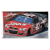 Kurt Busch NASCAR 3' x 5' Single-Sided Deluxe Flag - #41 Haas