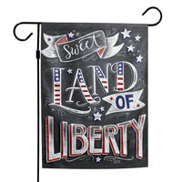 "Support America Patriotic 12"" x 18"" Garden Flag - Sweet Land of Liberty"
