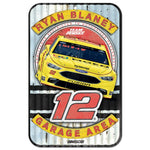 Ryan Blaney NASCAR Garage Area 11 x 17 Plastic Sign